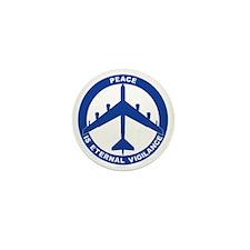 Peace Is Eternal Vigilance - B-52H Blu Mini Button