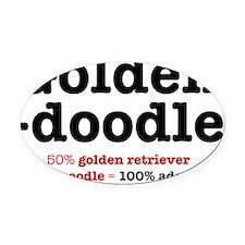 goldendoodle Oval Car Magnet