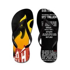 23x35 Our House is on Fire Flip Flops