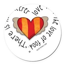 Food-lovers apron Round Car Magnet