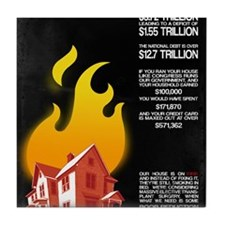 16x20 Our House is on Fire Tile Coaster