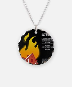 16x20 Our House is on Fire Necklace