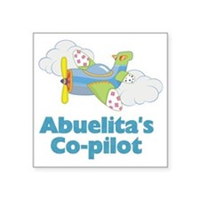 "abuelitas copilot Square Sticker 3"" x 3"""