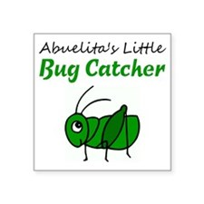 "bug catcher Square Sticker 3"" x 3"""