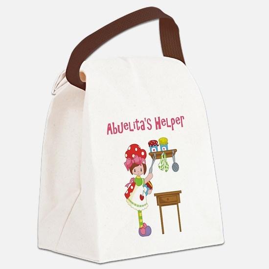 abuelitas helper cooking Canvas Lunch Bag