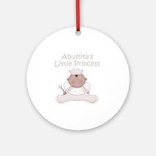 abuelitas little princess Round Ornament