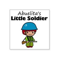 "little soldier boy Square Sticker 3"" x 3"""