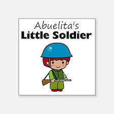"""little soldier boy Square Sticker 3"""" x 3"""""""