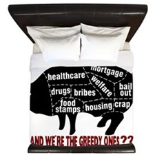 16x20 You Want Us to Pay King Duvet