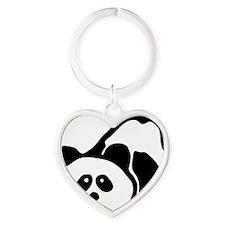 pandabear Heart Keychain