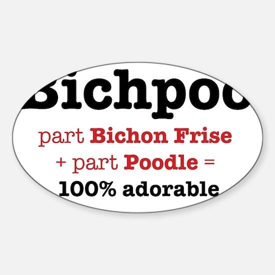 bichpoo Sticker (Oval)