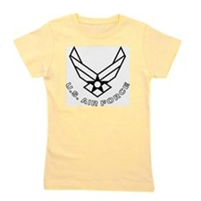 USAF-Symbol-With-Curved-Text-White-On-B Girl's Tee