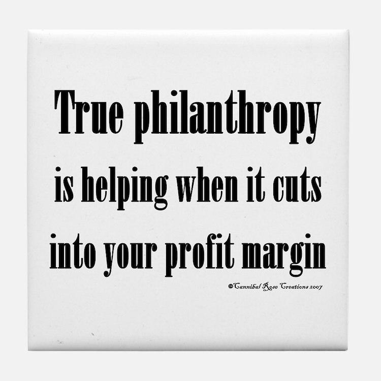 True Philanthropy Tile Coaster