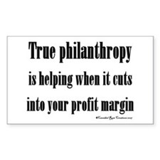 True Philanthropy Rectangle Decal