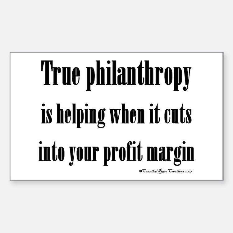 True Philanthropy Rectangle Decal