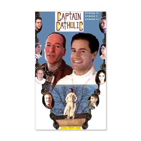 3-CAPTAIN CATHOLIC - EPISODES IV, 35x21 Wall Decal
