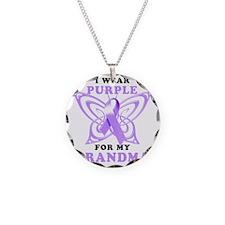 I Wear Purple for my Grandma Necklace