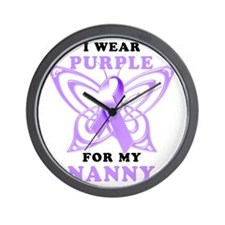 I Wear Purple for my Nanny Wall Clock