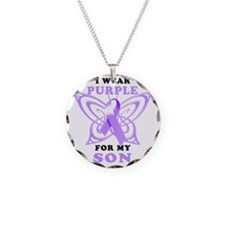 I Wear Purple for my Son Necklace