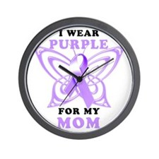 I Wear Purple for my Mom Wall Clock