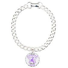 I Wear Purple for my Mom Bracelet