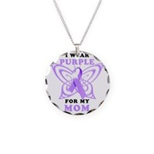 I Wear Purple for my Mom Necklace