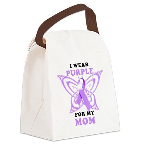 I Wear Purple for my Mom Canvas Lunch Bag