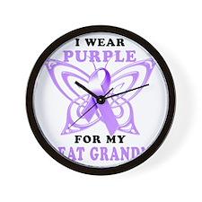 I Wear Purple for my Great Grandma Wall Clock