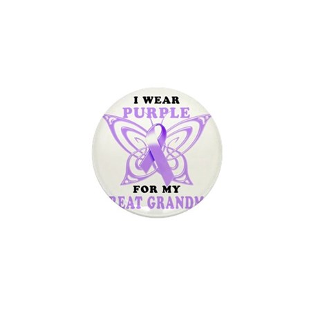 I Wear Purple for my Great Grandma Mini Button