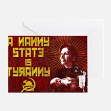 23x35 NANNY IS TYRANNY POSTER Greeting Card