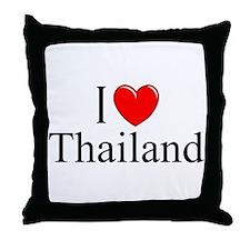 """I Love Thailand"" Throw Pillow"