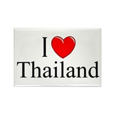 """I Love Thailand"" Rectangle Magnet"