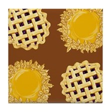 Blueberry Pie Pumpkin Pie Tile Coaster