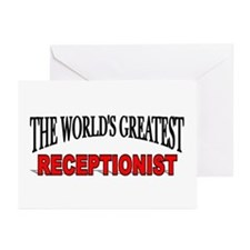 """The World's Greatest Receptionist"" Greeting Cards"