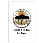 Jewish New Year for Trees Large Poster