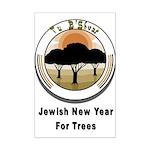 Jewish New Year for Trees Mini Poster Print