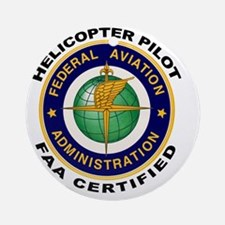FAA_Logo_Color_HELO-patch Round Ornament