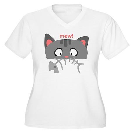 kitty_fishbone_me Women's Plus Size V-Neck T-Shirt