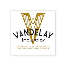 "VandelayIdFaded Square Sticker 3"" x 3"""