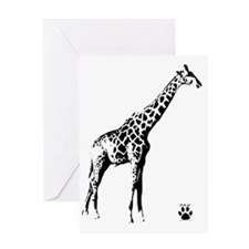 giraffe-paw Greeting Card