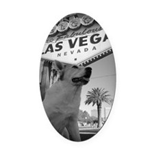 MaggieLVSignVWide Oval Car Magnet