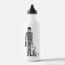 number_4_blk Water Bottle