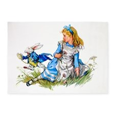 Alice_BLUE RABBIT copy 5'x7'Area Rug