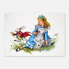 ALICE_RED RABBIT copy 5'x7'Area Rug