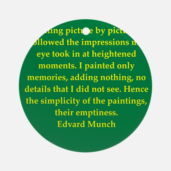munch11.png Ornament (Round)