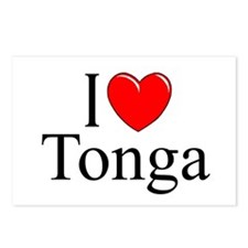 """I Love Tonga"" Postcards (Package of 8)"