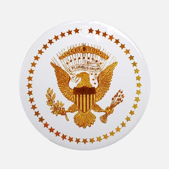 Gold Presidential Seal Round Ornament