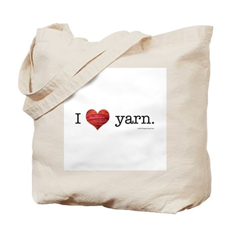 I heart yarn Tote Bag