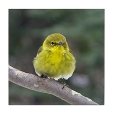 Fat Yellow Finch Tile Coaster