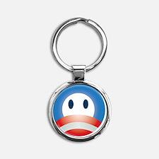 o_face_cpstkr_stkr Round Keychain
